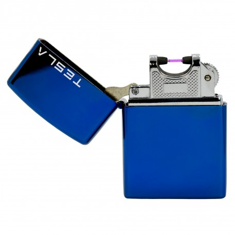 Tesla Çakmak [Mavi] [Tek Ark] [Elektrikli , Şarjlı] [Kişiye Özel Seçeneği]