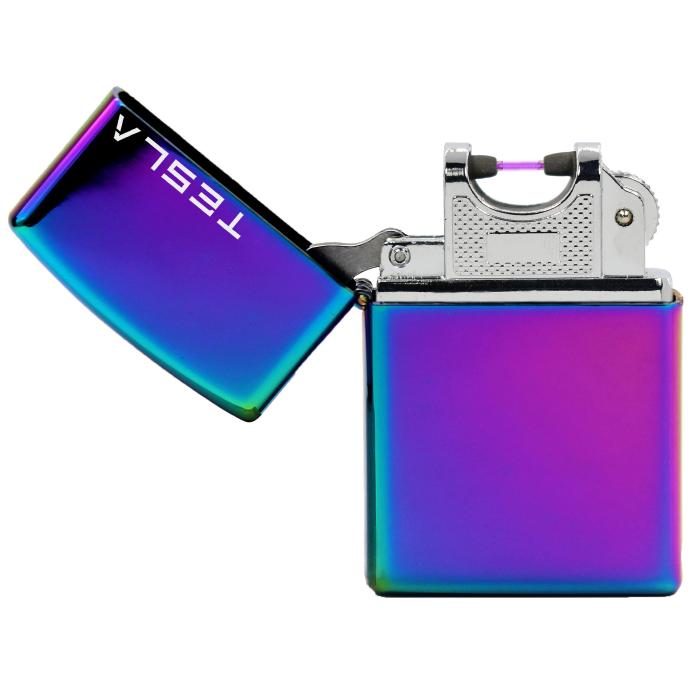 Tesla Çakmak [Gökkuşağı] [Tek Ark] [Elektrikli , Şarjlı] [Kişiye Özel Seçeneği]